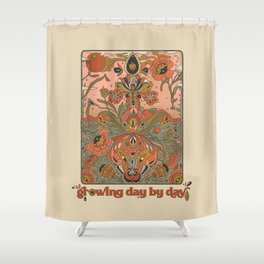 Growing Day By Day Shower Curtain
