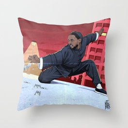 Kung Fu Kenny Throw Pillow