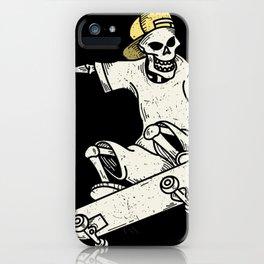 Vintage Skateboarding Skeleton iPhone Case