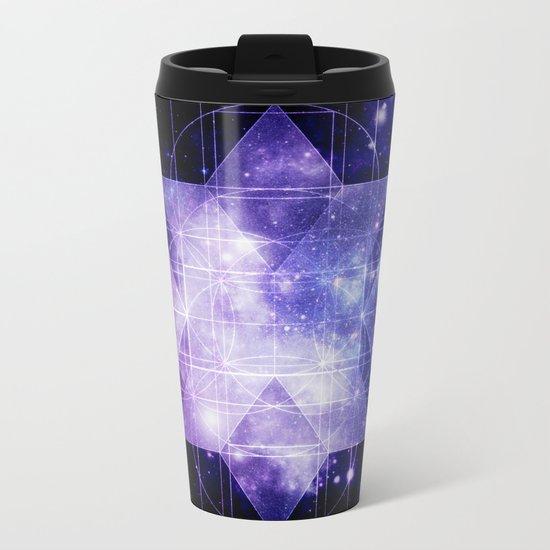 galaxy sacred Geometry Metal Travel Mug