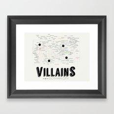Villains of Gotham Framed Art Print