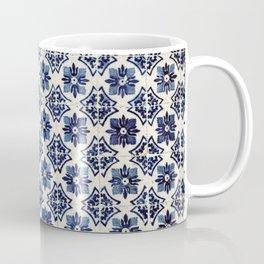 Vintage Blue Ceramic Tiles Coffee Mug