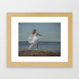 Summer Dance on the Beach Framed Art Print