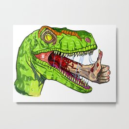 Dino Approves Metal Print