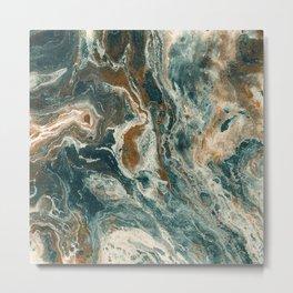 Agate Sea Metal Print