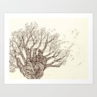 Vine and Branches Art Print