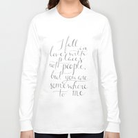 the cure Long Sleeve T-shirts featuring Wanderlust Cure by Tiff Hung
