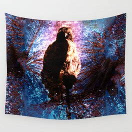 Baby Hawk Branching Out Wall Tapestry