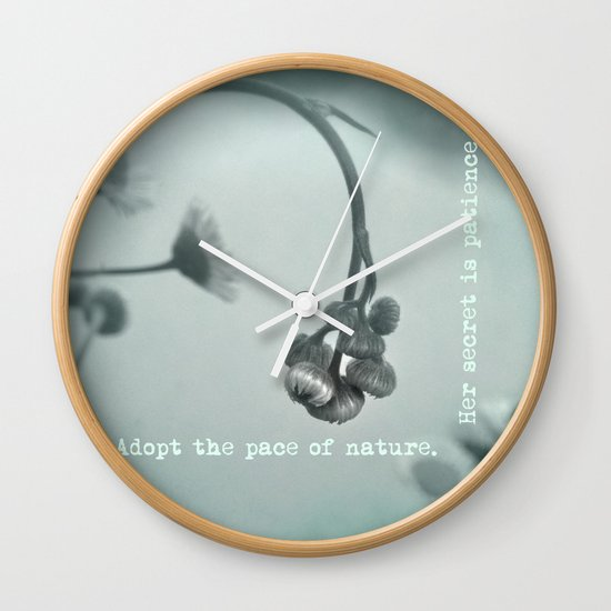 Patient Nature Wall Clock