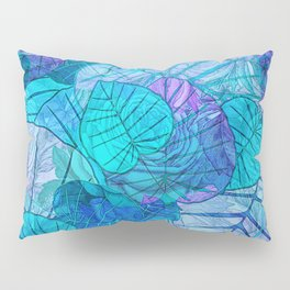 Leaves in Rosy Background 3 Pillow Sham