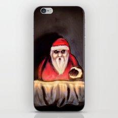 Black Xmas: Santa Claus is Here iPhone & iPod Skin