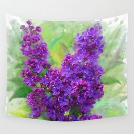 Watercolor Lilac Wall Tapestry