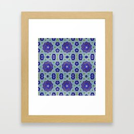 Samarkand Kaleidoscope in Blue Framed Art Print