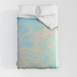 Faux Holographic Iridescent Texture Comforters