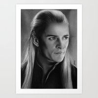 legolas Art Prints featuring Legolas Greenleaf by Art by Ana Mendes