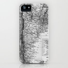 Vintage Map of Argentina (1911) iPhone Case