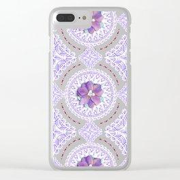 Delphinium Lace Clear iPhone Case