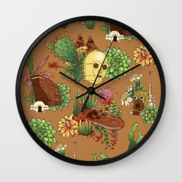 Serene Tatooine Wall Clock