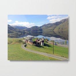 Norway Fjords - Greg Katz Metal Print