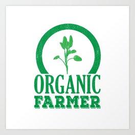 Organic Farmer Regional Vegetable Fruit Art Print