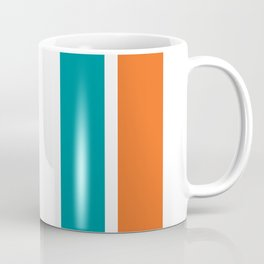 Aqua Orange Miami Color Coffee Mug