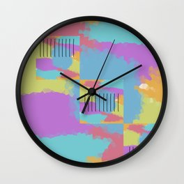 A colorful mess. Wall Clock