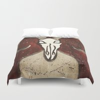 gentleman Duvet Covers featuring The Gentleman by Tiffany Saffle
