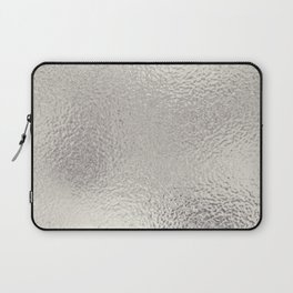 Simply Metallic in Silver Laptop Sleeve