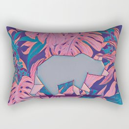 Tropical bear Rectangular Pillow