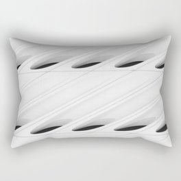 The Broad In the Afternoon Black & White Pattern Photography II Rectangular Pillow