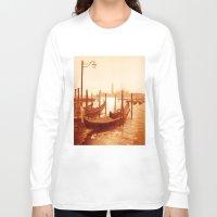 venice Long Sleeve T-shirts featuring Venice by coffeepainter karen eland