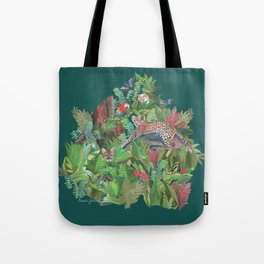 Into the Wild Emerald Forest Tote Bag