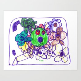 Baby Gears Toy Art Print