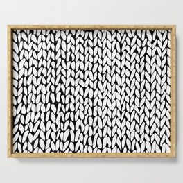 Hand Knitted Loops Serving Tray