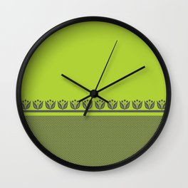 Chartreuse Spring Wall Clock