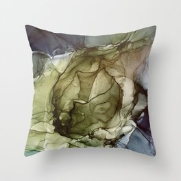 Calm Nature- Earth Inspired Abstract Painting Throw Pillow