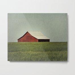 Red Barn Blue Sky Metal Print