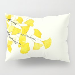 Golden Ginkgo Leaves Pillow Sham