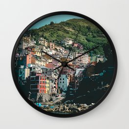 Colored Houses of Italy Wall Clock