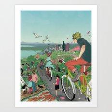 Bicycle Paths Art Print