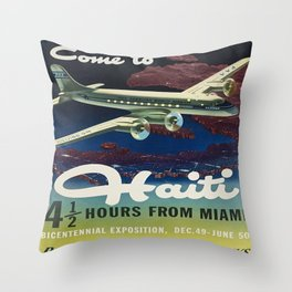 Vintage poster - Haiti Throw Pillow