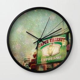 Caffe Trieste Wall Clock