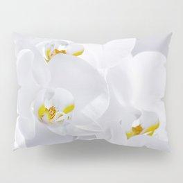 Orchid white macro 029 Pillow Sham