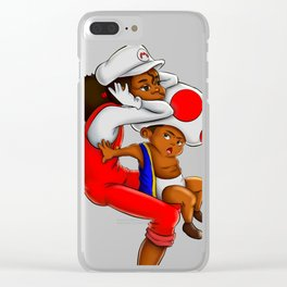 Mario Siblings Clear iPhone Case