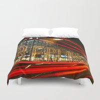 berlin Duvet Covers featuring Berlin! by Ricarda Balistreri