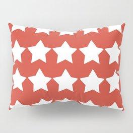 White festive stars Pillow Sham