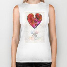 Red Heart Art - Love Is - By Sharon Cummings Biker Tank