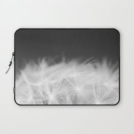 Dandelion Blowball Closeup Black and White #decor #society6 #buyart Laptop Sleeve