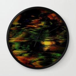 Glitch Pattern 01 Wall Clock