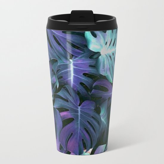 Monstera Blues Metal Travel Mug
